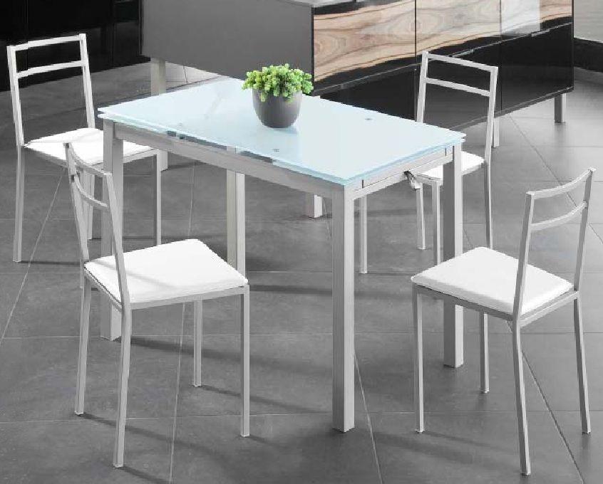 Pack Gran-Bisbe sillas Conjunto de mesa metálica extensible a los ...