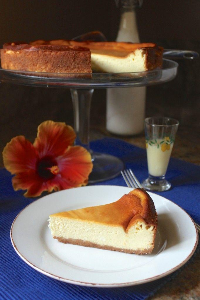 Limoncello Cheesecake (Torta di Limoncello) www.christinascucina.com