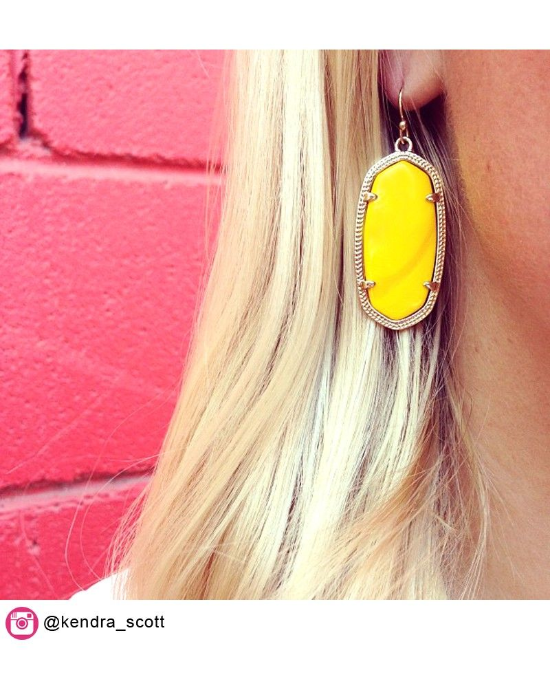 939ce1bda80f0 Elle Earrings in Yellow - Kendra Scott Jewelry   Spring and Summer ...