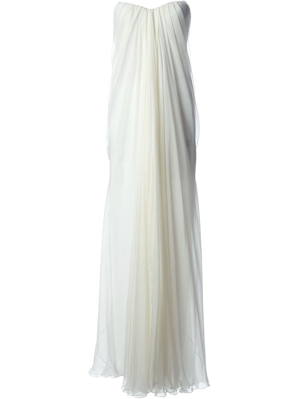 Alexander Mcqueen Draped Bustier Gown - Gente Roma - Farfetch.com