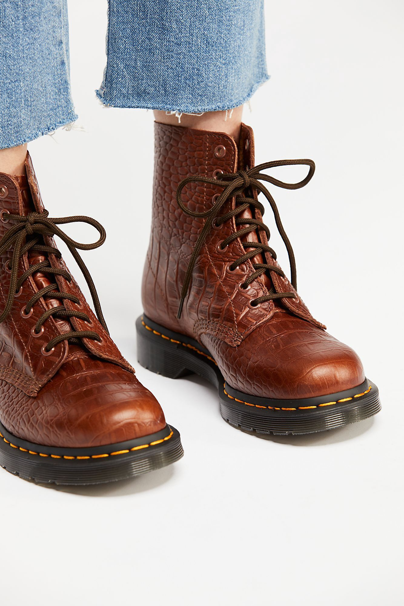 cb2aacbdb354a1 Free People Dr. Martens Pascal Croc Boot - 10 Yellow