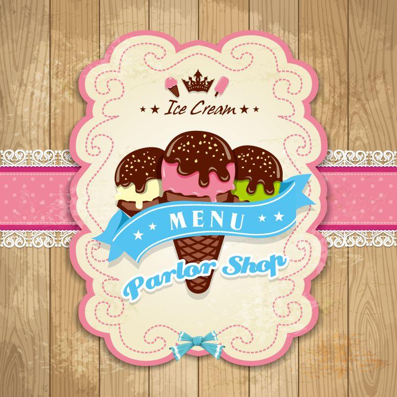 Ice Cream Shops Logos Ice Cream Parlor Shop Vector