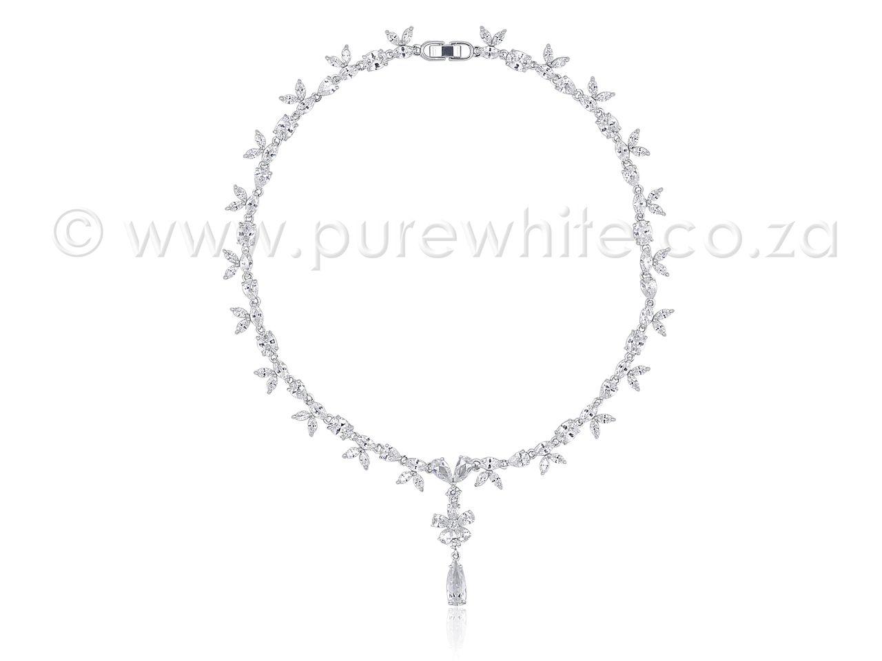 PURE WHITE - Feminine Cubic Zirconia Necklace 7-022, R2,229.01 (http://www.purewhite.co.za/feminine-cubic-zirconia-necklace-7-022/)
