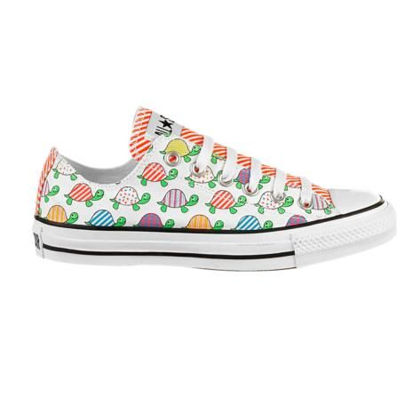 Tropical Small Turtles Women Casual Shoes Skateboard Classic Print Designer
