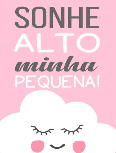 Nuvem Sonhe Alto Minha Pequena Quadros Quarto Infantil