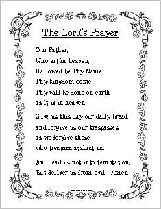 picture regarding Printable Our Father Prayer identify prayer sheets i Space the prayer sheets termed prayers i