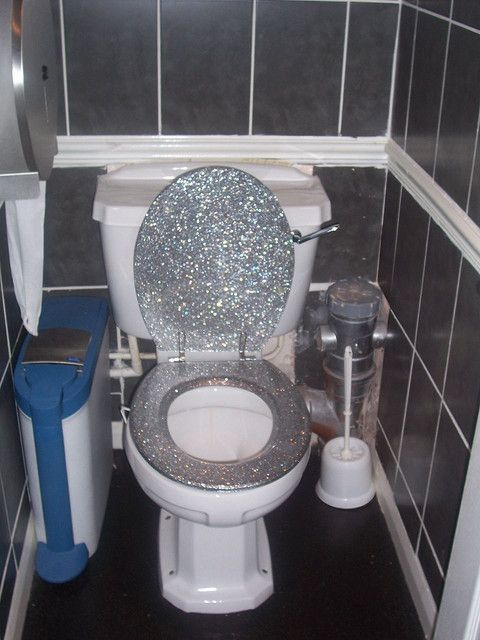 Sparkly Toilet Seat Everyday Sparkle Pinterest Toilet House