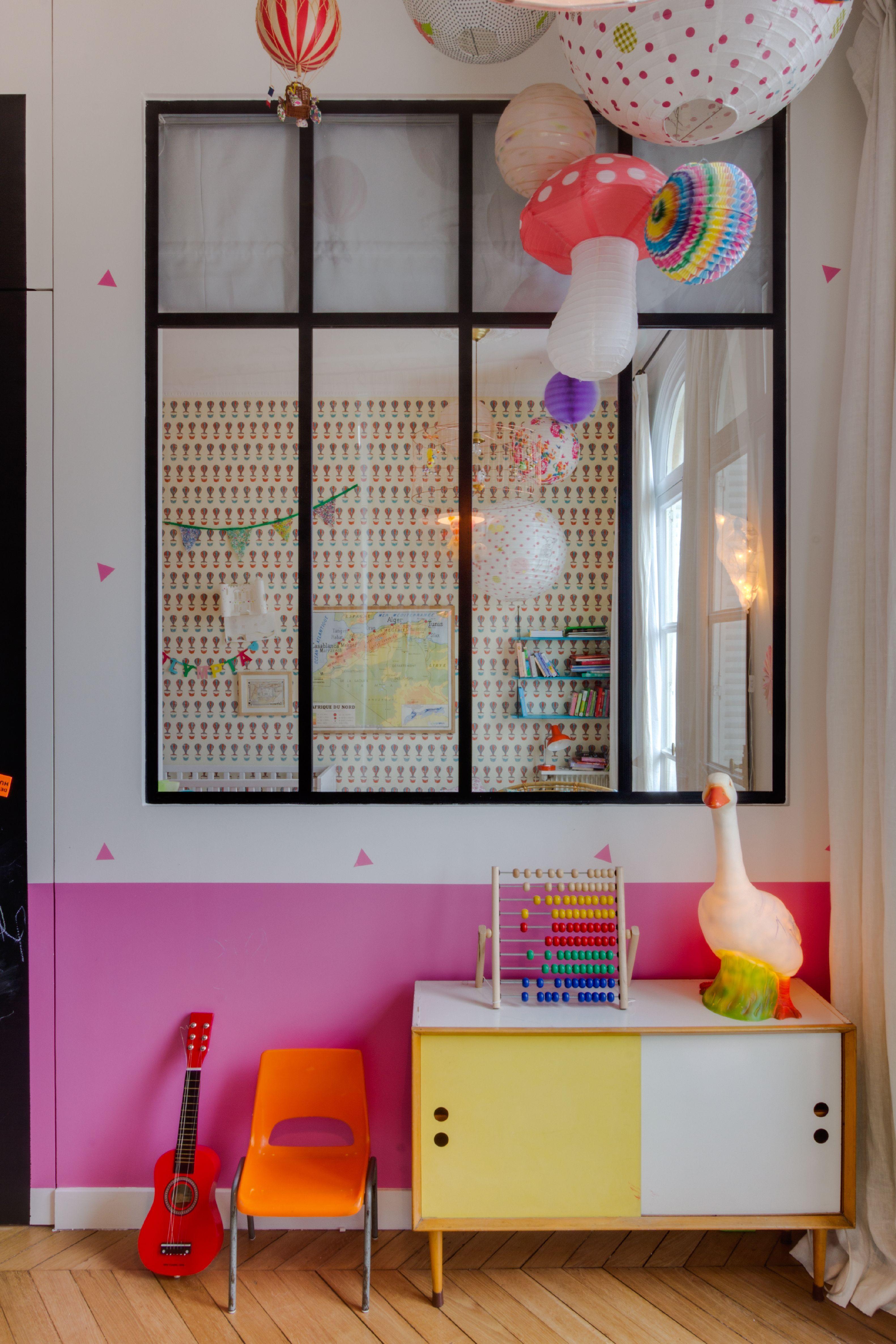 Chambre enfant Appartement parisien 240m2- GCG Architectes ...