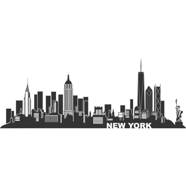 Wandtattoo New York Skyline 1 (u20ac30) ❤ Liked On Polyvore Featuring  Backgrounds,