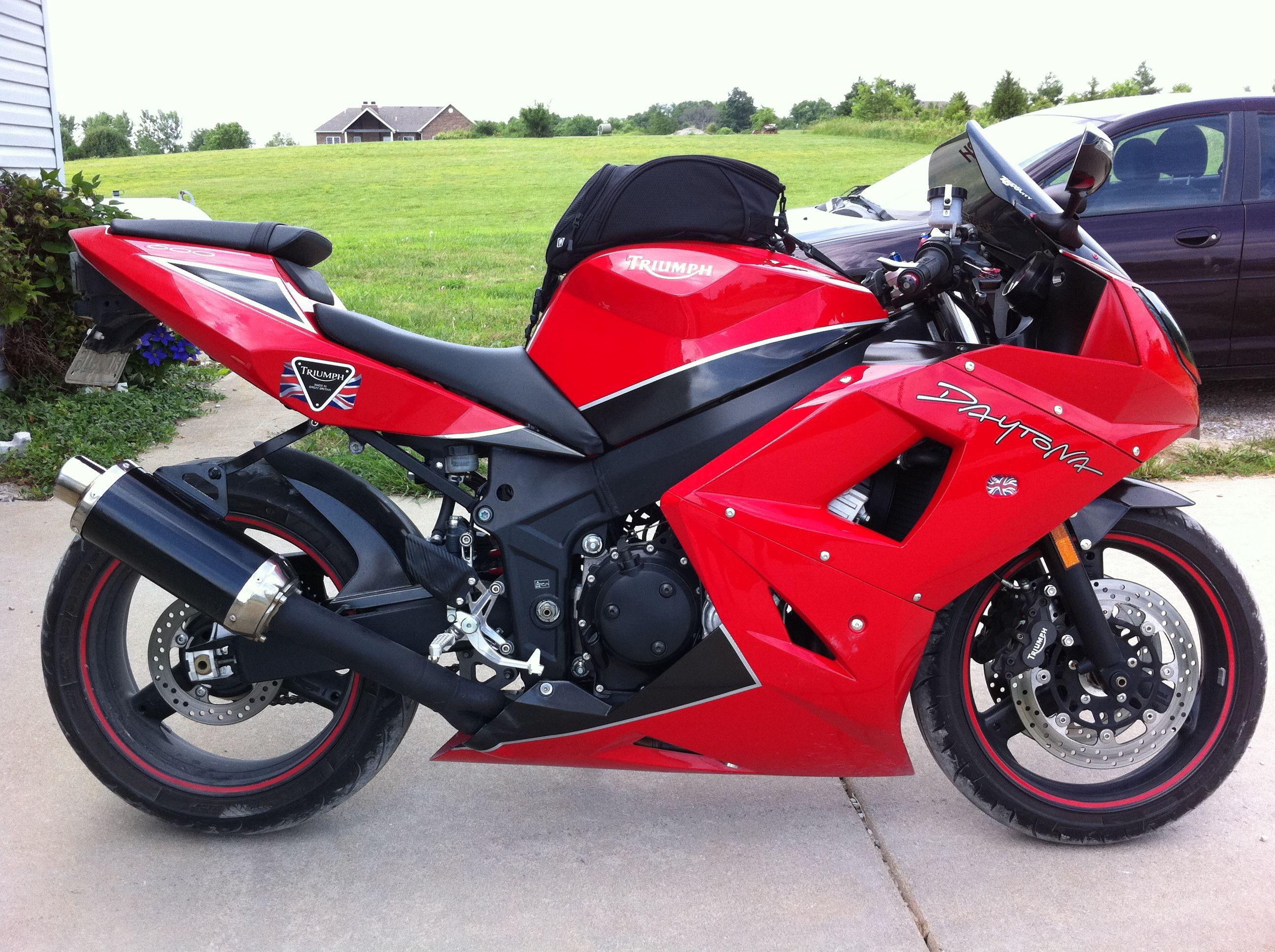 duke's custom 2004 triumph daytona 600 | motorcycle: sportbikes