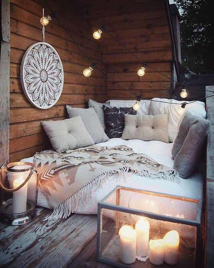 23 Fantastische Ideen für die Dekoration von kleinen B - Kleiner Balkon Ideen #wohnungbalkondekoration