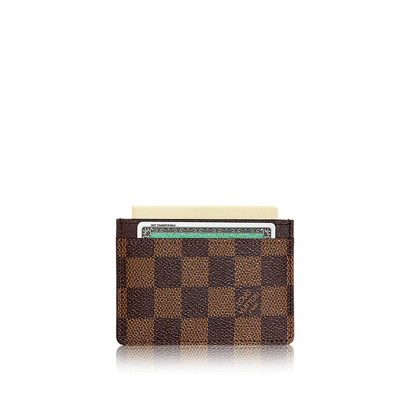 Card Holder Damier Ebene Canvas Men Small Leather Goods Key and Card ...