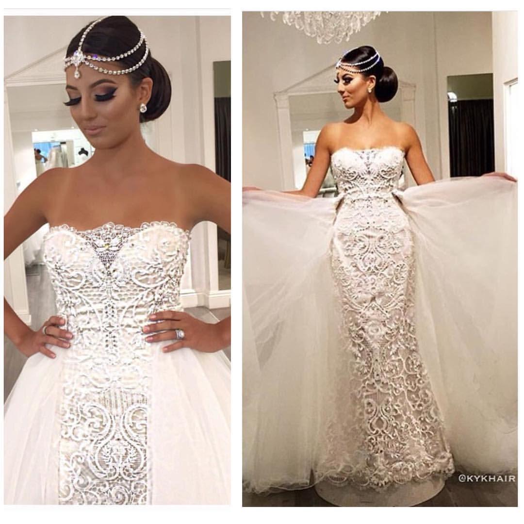 Gucci mane wife wedding dress  WOW Dress by maggiesottero from raffaeleciucabridal  Headpiece