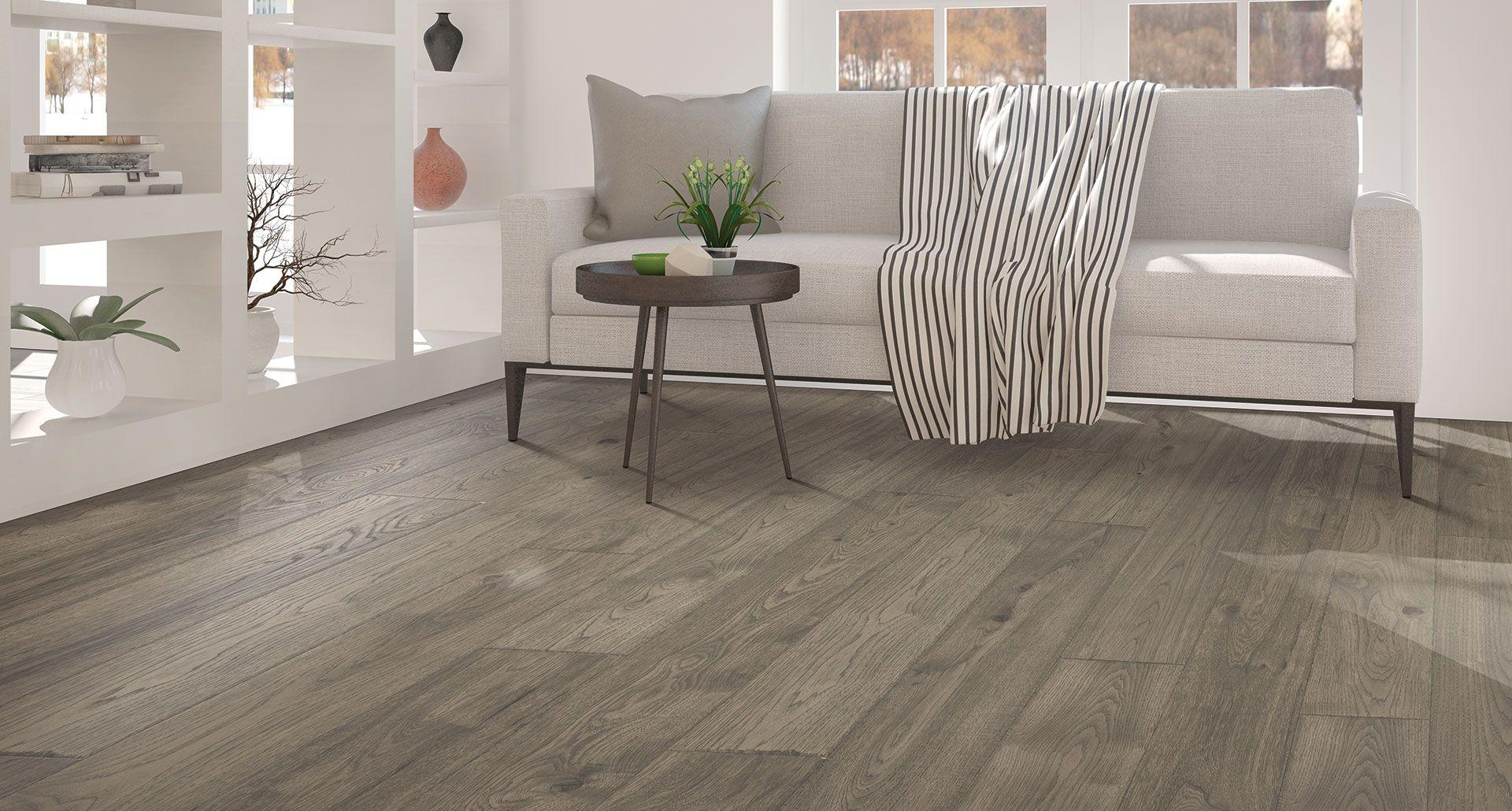Anchor Grey Oak laminate floor. Natural wood look, 12mm