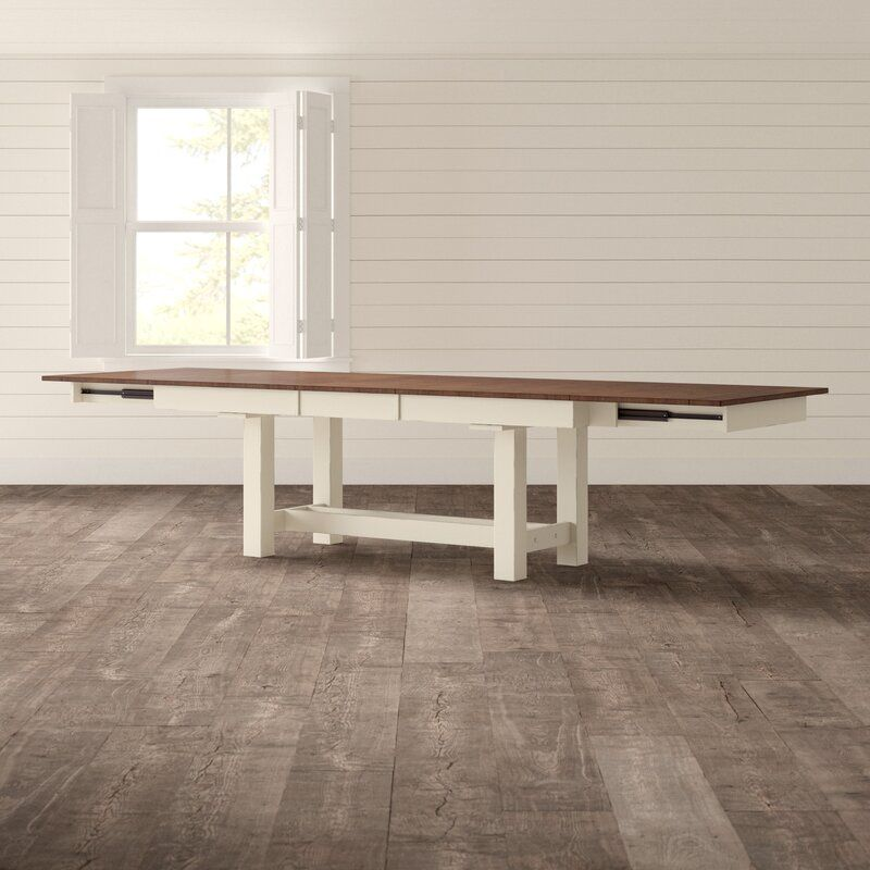 Aguero Extendable Solid Wood Dining Table Solid Wood Dining Table Wood Dining Table Dining Table