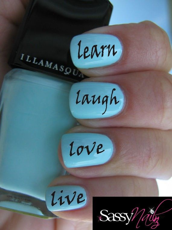 Live Laugh Love Learn Nail #nail  #girls #sexy #magic   www.loveitsomuch.com