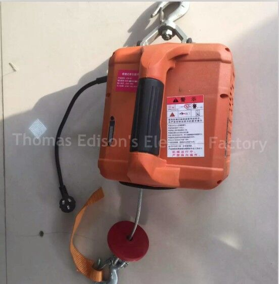 220V 500KGX7 6M 200x19M Portable Electric Winch With