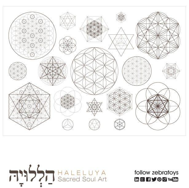Sacred Geometry Soul Art Poster-Ancient Symbols-Secret