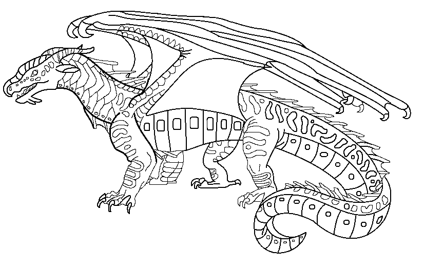 Wings Of Fire Coloring Pages Wings Of Fire Wings Of Fire Dragons Dragon Coloring Page