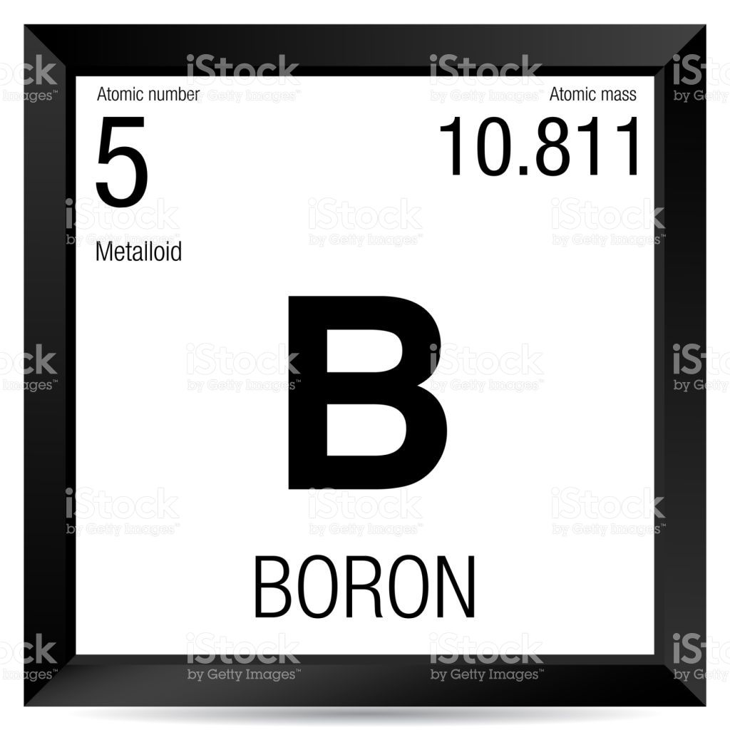 Boron symbol element number 5 of the periodic table of the elements smbolo del boro elemento nmero 5 de la tabla peridica de los elementos qumica urtaz Images