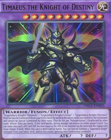 1st Ed. - Secret Rare Timaeus the Knight of Destiny Near Mint DRL2-EN001