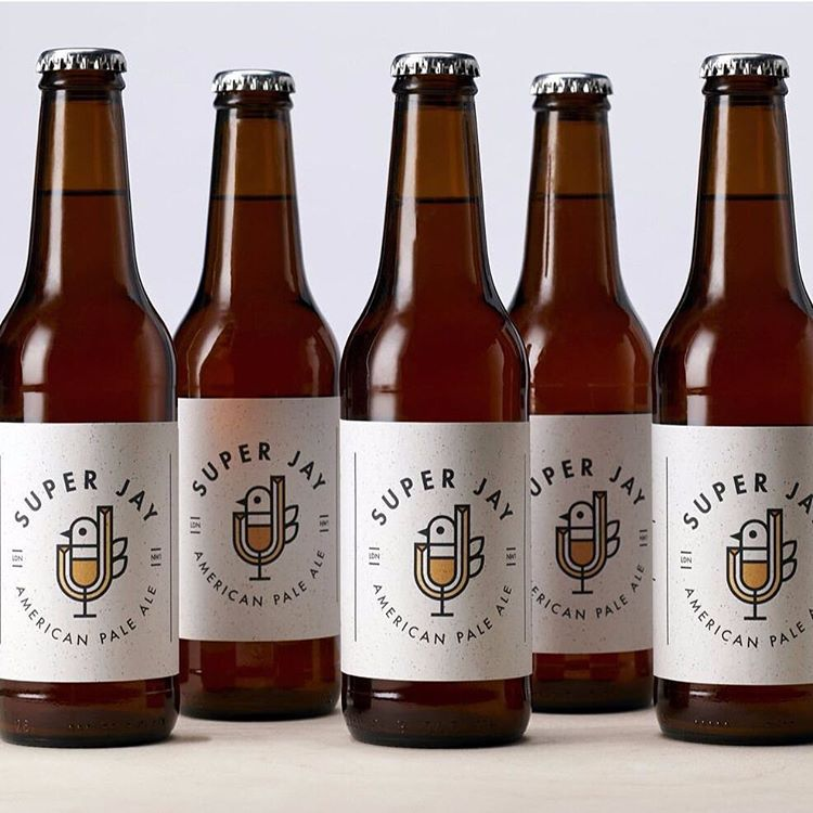 We're showing Friday who's boss with some clean yet warm #packagingdesign by @pww_design for Super Jay pale ale. More to drink on >>eyeondesign.aiga.org<< #graphicdesign