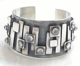 Ruth Roach, Sterling and opal bracelet