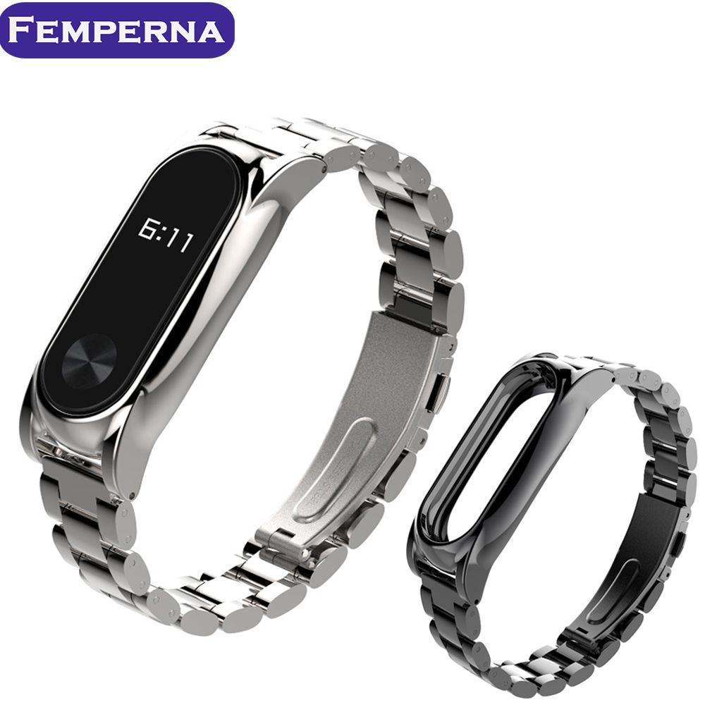Click To Buy Plus Stainless Steel Metal Strap For Xiaomi Miband 2 Mi Band Oled Mijobs Silver Plis