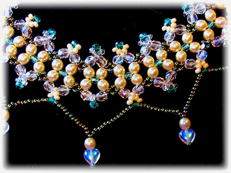 Free pattern schema for necklace Gaby | Beads Magic