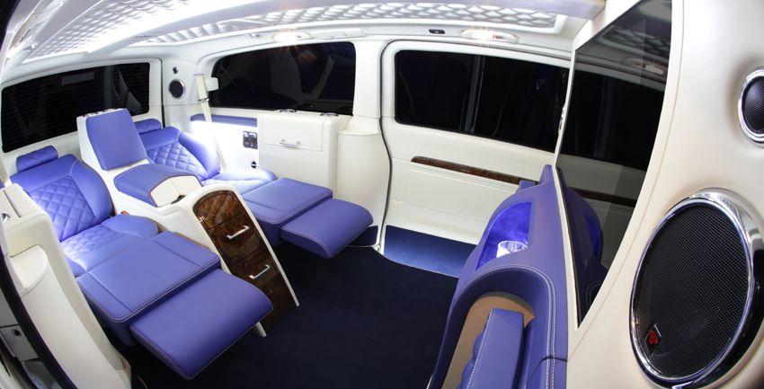 Mercedes Viano cream blue Interior Viano, Blue diamond
