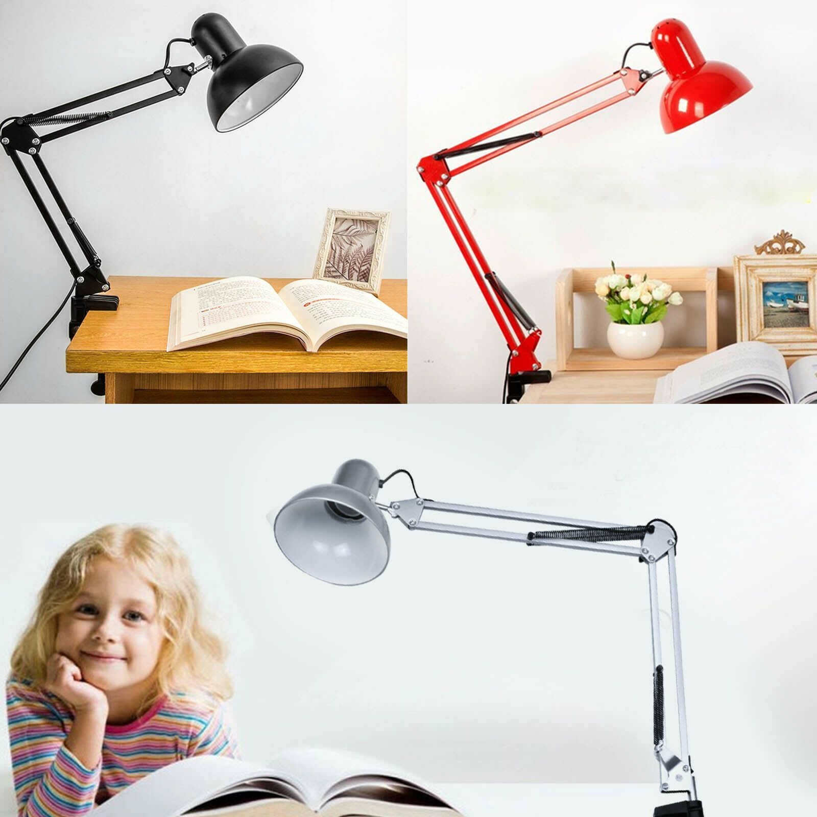 0220v Arm Clamp Desk Flexible Home Lamp Led Light Mount Office Swing Table 0220v Flexible Table Led Desk Lamp S Led Desk Lamp Clamp Lamp Desk Lamp