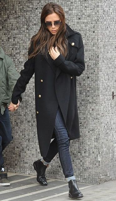 06167a452 Victoria Beckham / Chelsea boots / military jacket. I am all over ...