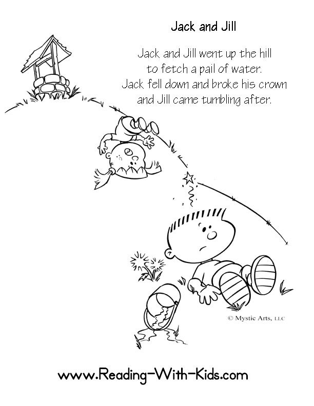 Lots Of Nursery Rhyme Reading Coloring Pages For Children