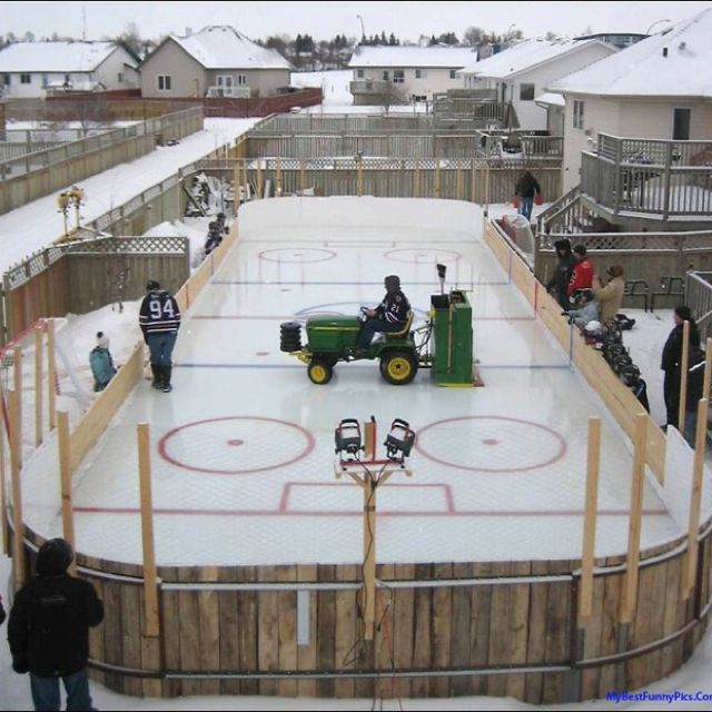 Backyard Hockey Rink Provided That I Have A Kid Into Hockey *fingers  Crossed*