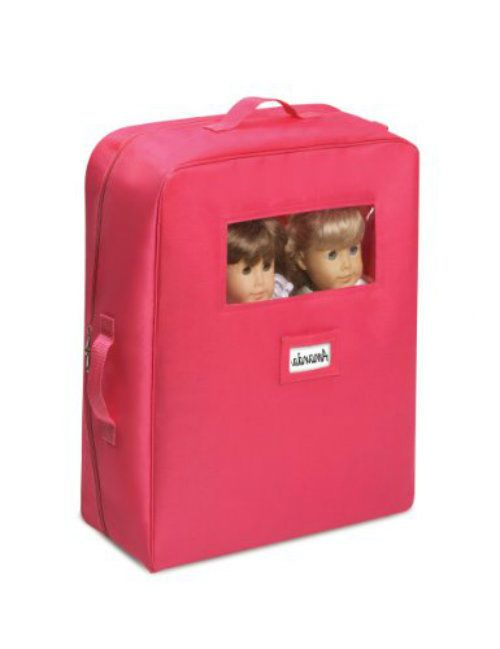 """Doll Travel Case Storage Carrier Double American Girl 18""""  Bunk Bed Bedding Pk #Badger #TravelCase"""