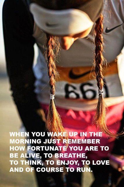 So fortunate to run