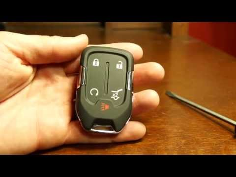 177 2017 Gmc Acadia Key Fob Battery Replacement Youtube In 2020