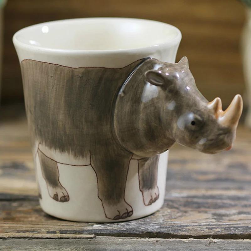 3D Rhinoceros Coffee Mug in 2020 Mugs, Coffee mugs