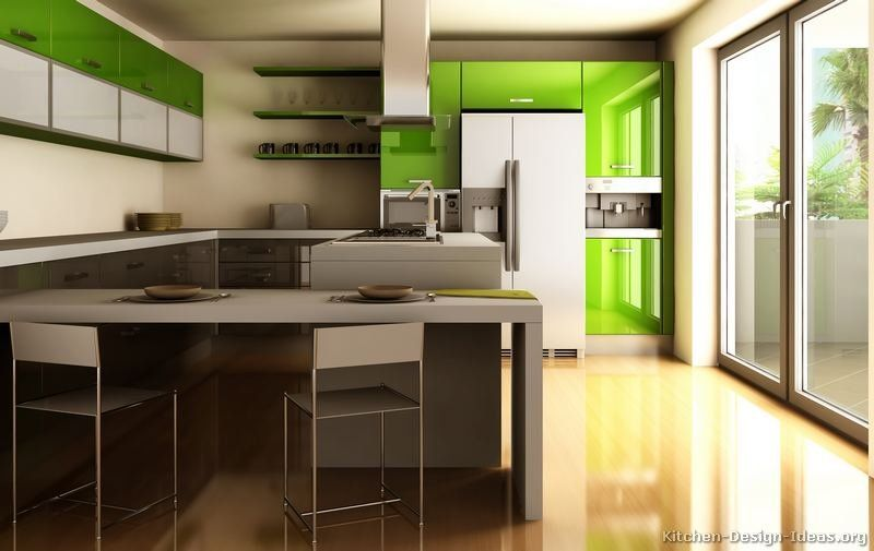 Kitchen of the day modern two tone kitchens home for Modern day kitchen designs