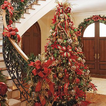 front gate red and gold tree
