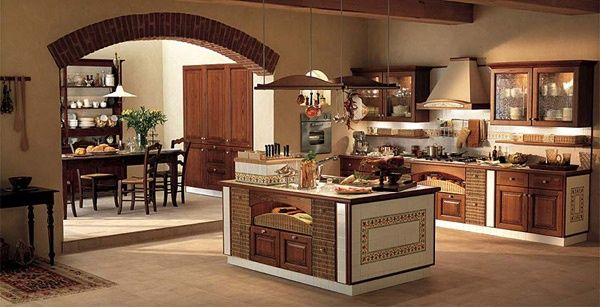 cucina in muratura con arco | cucina country | Kitchen design ...
