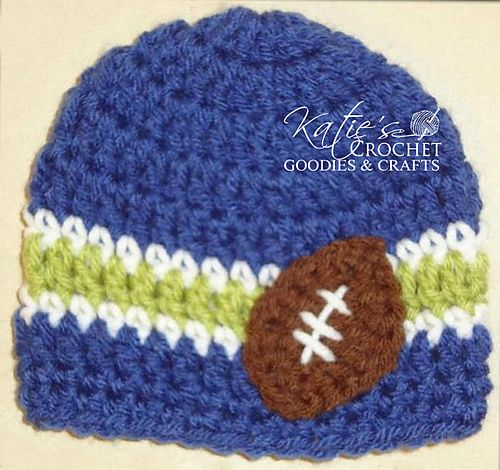 7bd7988dde5 Football Fan Beanie pattern by Katie s Crochet Goodies