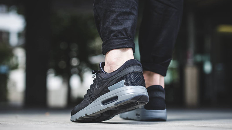 black  are you a fan of the nike air max zero black grey