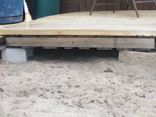 Redneck Pallet Deck Reuse Pallets and Decking