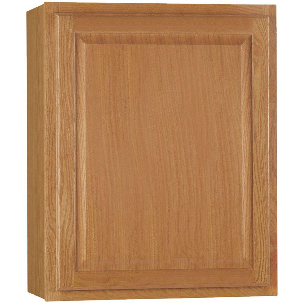 Hampton Bay Hampton Assembled 24x30x12 In Wall Kitchen Cabinet In Medium Oak Kw2430 Mo The Home Depot In 2020 Kitchen Cabinets Kitchen Wall Cabinets Oak Kitchen Cabinets Wall Color