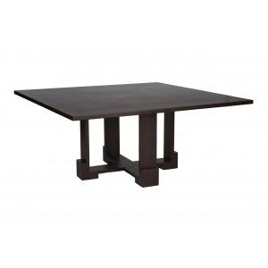 Vienna 60 Inch Square Dining Table In Walnut Finish By Allan