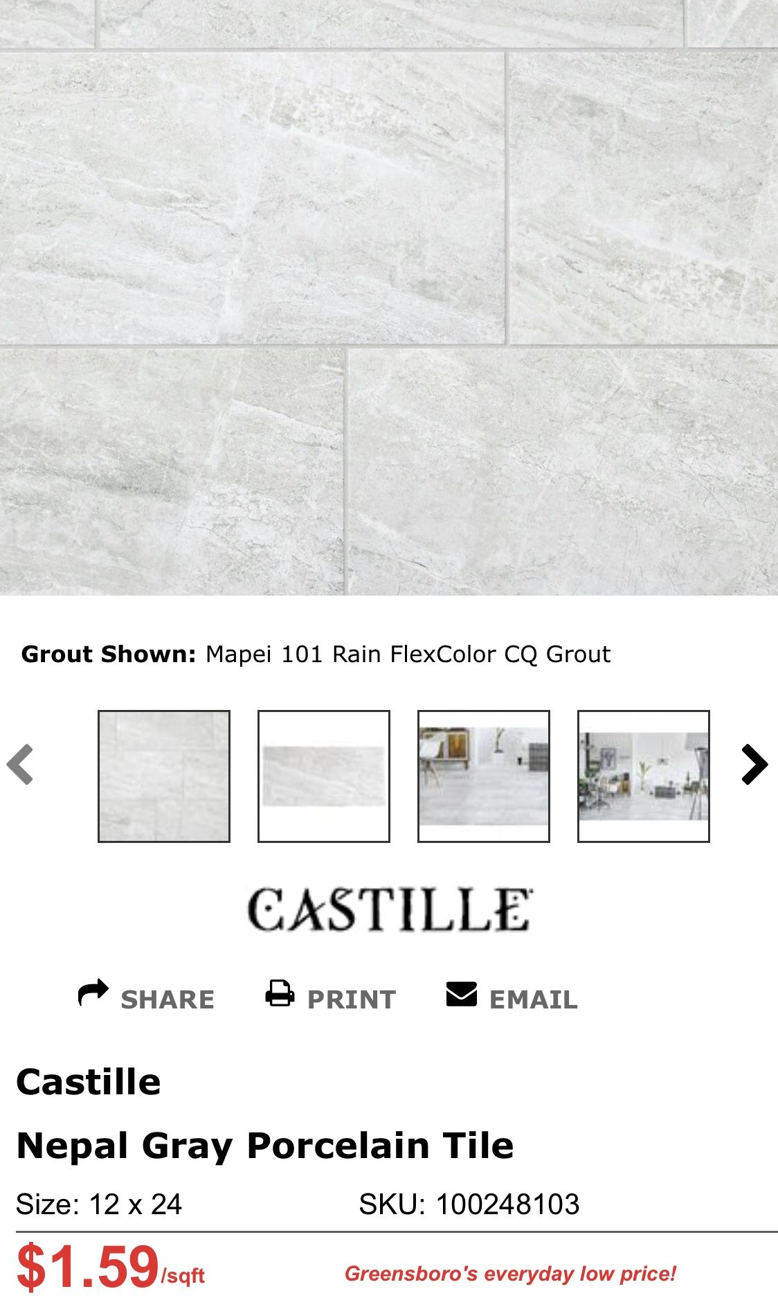 nepal gray porcelain tile guest bath 2