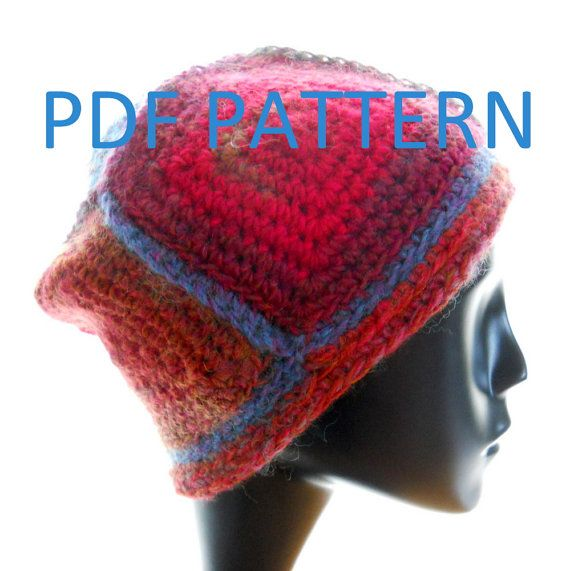 PDF Crochet Hat Pattern: The 5-Square Beanie for women and men ...
