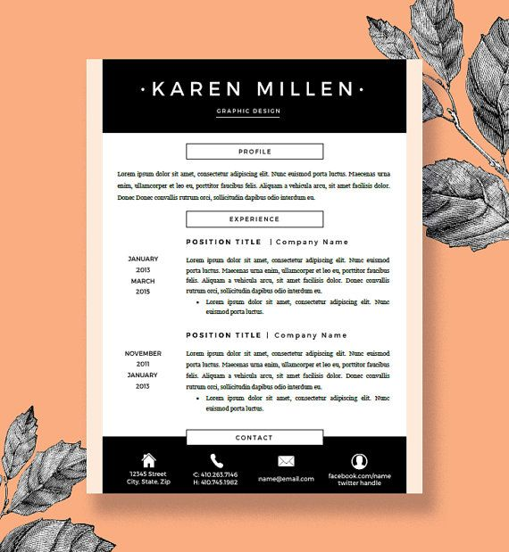 one page resume template word free download cover letter pages two printable format single
