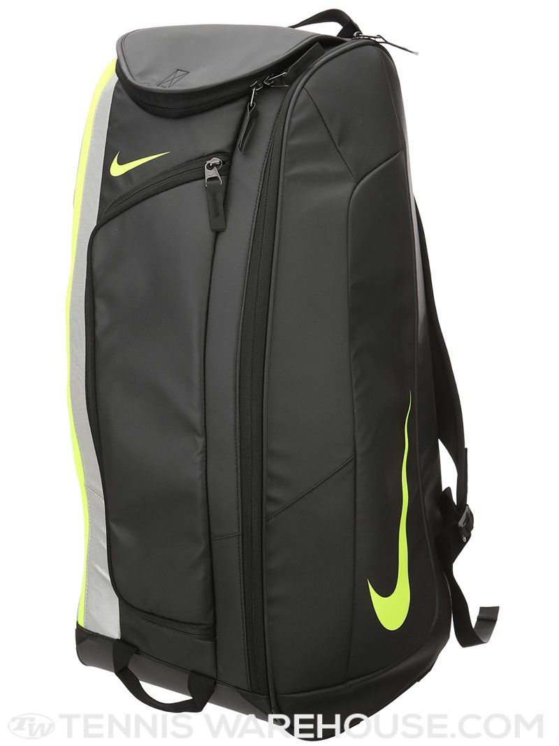 Guerrero Globo emergencia  Nike Court Tech 1 Racquet Bag Black/Volt | Racquet bag, Tennis bags, Tennis  backpack